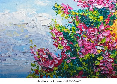 Texture oil painting, flowers, art, painted color image, paint, wallpaper and backgrounds, canvas, artist, impressionism, painting floral pattern