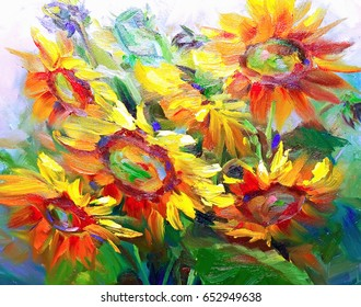 Texture of oil paintings, flowers, painting fragment of painted color image, wallpaper and backgrounds, for backgrounds and textures floral pattern in oil on canvas