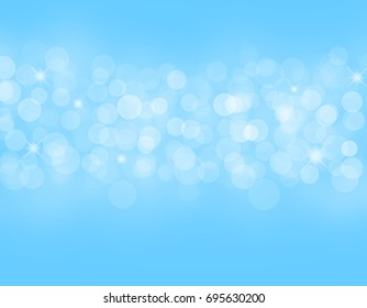 texture water with bubbles on a blue background