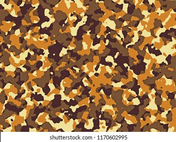Textured brown and orange camouflage pattern background