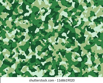 Textured green camouflage pattern background