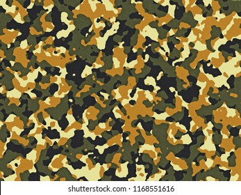 Textured green and orange camouflage pattern background