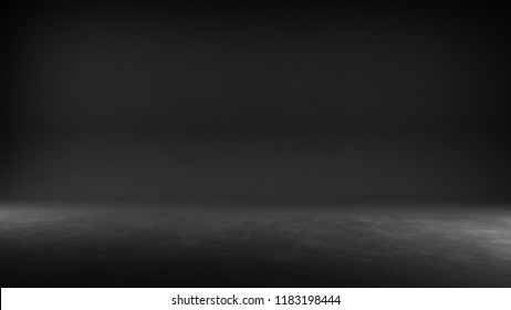 Textured studio background - Black