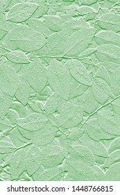 Textures of abstract leaves with background green