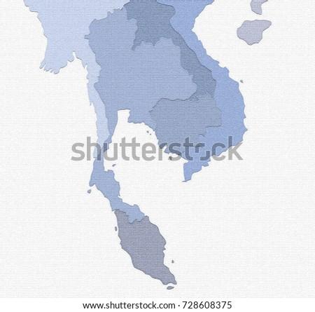 Royalty Free Stock Illustration Of Thailand Laos Cambodia Vietnam