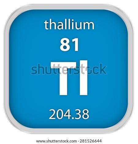 Thallium Material On Periodic Table Part Stock Illustration