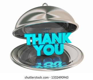 Thank You Appreciation Gratitude Recognition Dinner PLatter 3d Illustration