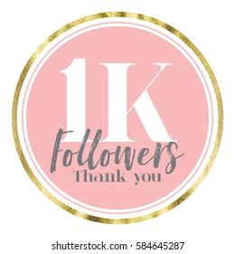 Thank you followers. Social media subscriber banner.