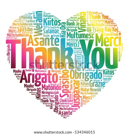 thank you love heart word cloudのイラスト素材 534346015 shutterstock