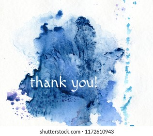 thank you, on watercolor background