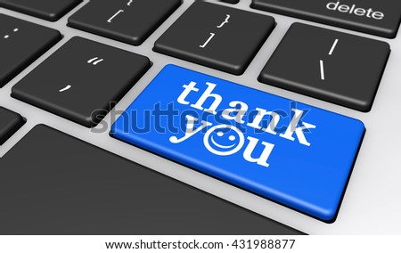 Thank You Sign Word Happy Smiley Stock Illustration 431988877