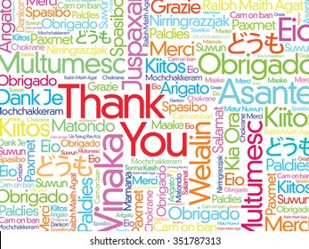 Thank You Word Cloud background in all languages