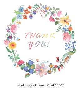 thank you. Wreath with flowers