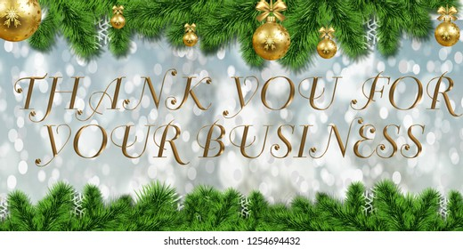 Thank you for your business illustration banner