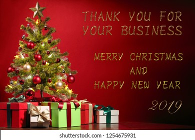 Thank you for your business Merry Christmas and Happy New Year 2019