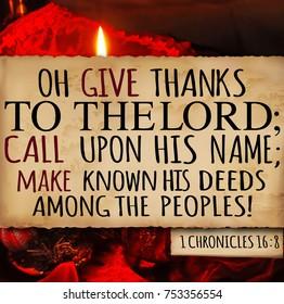 Thanksgiving 1 Chronicles 16:8