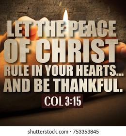 Thanksgiving Colossians 3:15