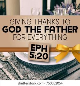 Thanksgiving Ephesians 5:20