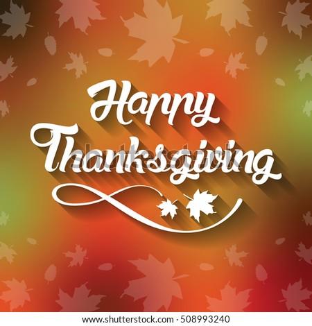 Thanksgiving greeting card happy thanksgiving lettering stock thanksgiving greeting card with happy thanksgiving lettering text illustration m4hsunfo