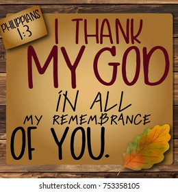 Thanksgiving Philippians 1:3
