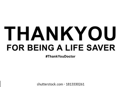 Thankyou doctors and nurses white background wallpaper - Shutterstock ID 1813330261