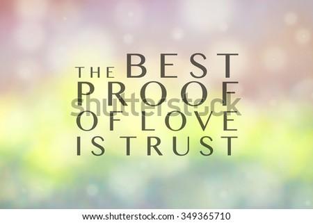 The Best Proof Love Trust Lettering Stock Illustration 349365710