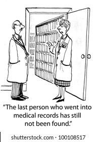 """""""The last person who went into medical records has still not been found."""""""