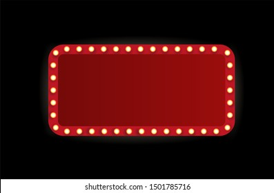 Theater marquee isolated on white background.