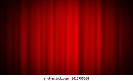 Theater red curtain on stage entertainment background, Red curtain background.