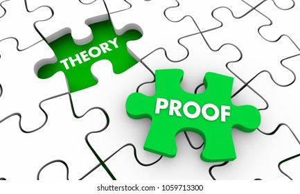 Theory Proof Evidence Found Puzzle Piece 3d Illustration