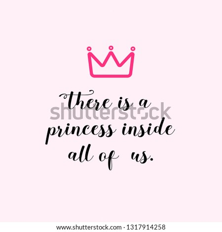 There is a princess
