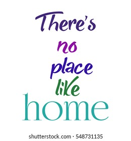 There's no place like home in colors