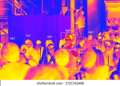 Thermal Camera to control body temperature due to the Coronavirus pandemic, Illustration