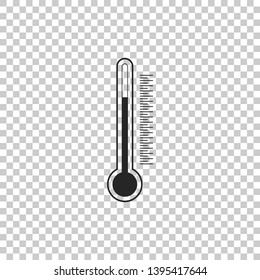 Thermometer icon isolated on transparent background. Flat design