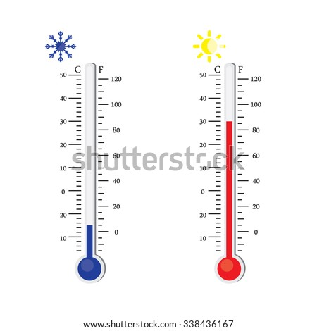 thermometer icon raster celsius fahrenheit measuring stock