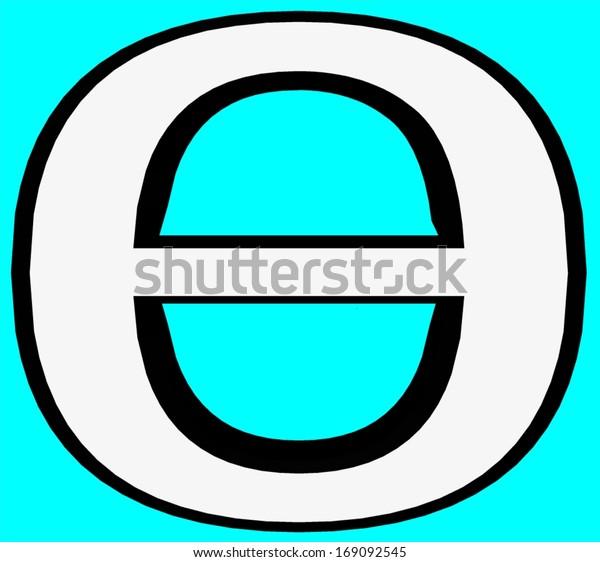 8th Greek Letter.Theta Greek Letter Greek Alphabet Script Stock Illustration 169092545