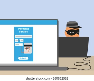 Thief connected to your laptop while you doing online payment