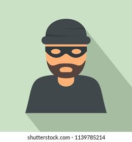 Thief icon. Flat illustration of thief icon for web design