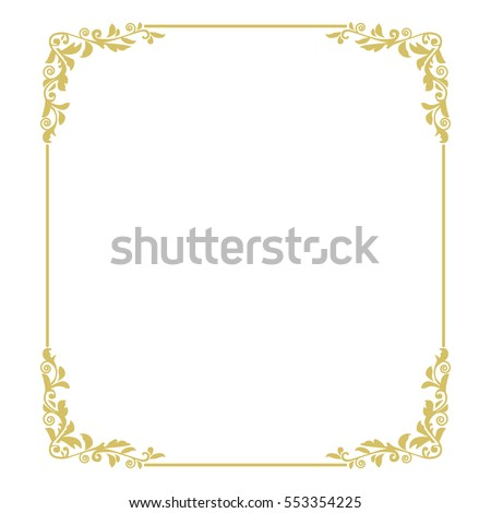 Royalty Free Stock Illustration Of Thin Gold Beautiful Decorative
