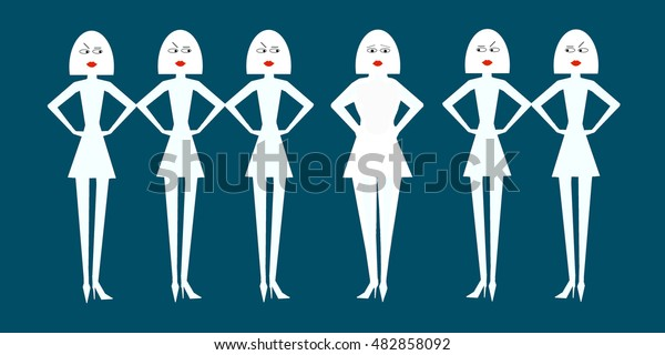 Thin paper doll women fat shame a normal sized woman