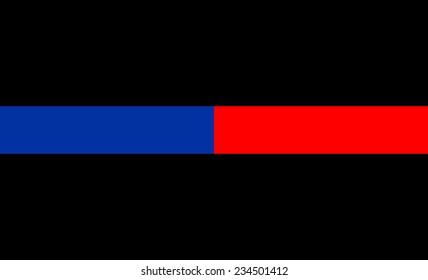 thin red blue line flag law enforcement symbol