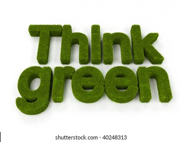 Think green concept