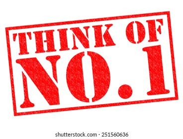 THINK OF NO.1 red Rubber Stamp over a white background.