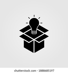 Think outside the box theme, flat style icon. Web site page and mobile app design element.