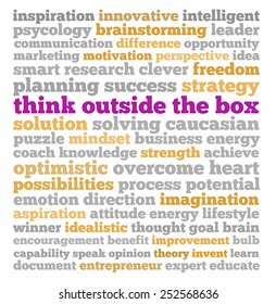 Think outside the box in word collage