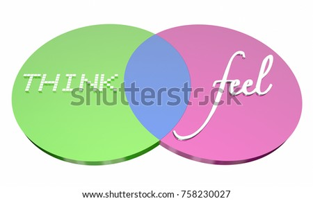 Royalty Free Stock Illustration Of Think Vs Feel Venn Diagram
