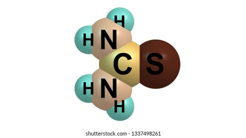 Thiourea is an organosulfur compound with the formula SCNH22. It is structurally similar to urea. 3d illustration