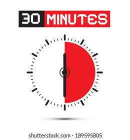 Thirty Minutes Stop Watch - Clock Illustration
