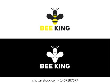 This Is a Bee King Logo For Every Bee Lovers.
