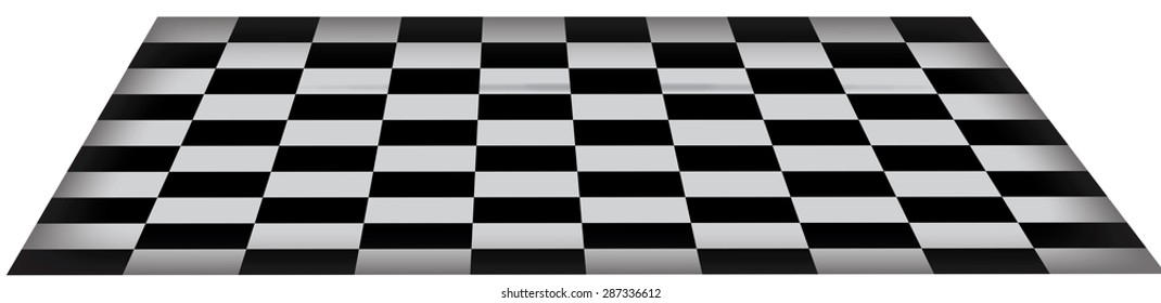 this is a classic checkerboard black and white tiled floor, this check floor has a three dimensional quality.